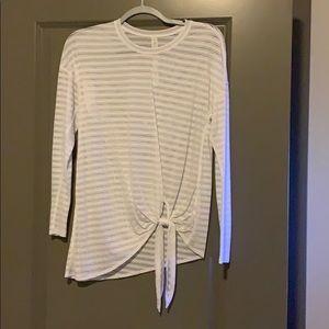 Lululemon see through white long sleeve top